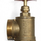 Рукав пожарный - Кран (вентиль) пожарный латунный угловой ПК-50, ПК-70